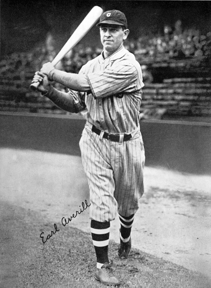 Earl Averill, catcher for the Cleveland Indians, takes some swings in Metropolitan Stadium before a game in 1935 in Cleveland, Ohio.