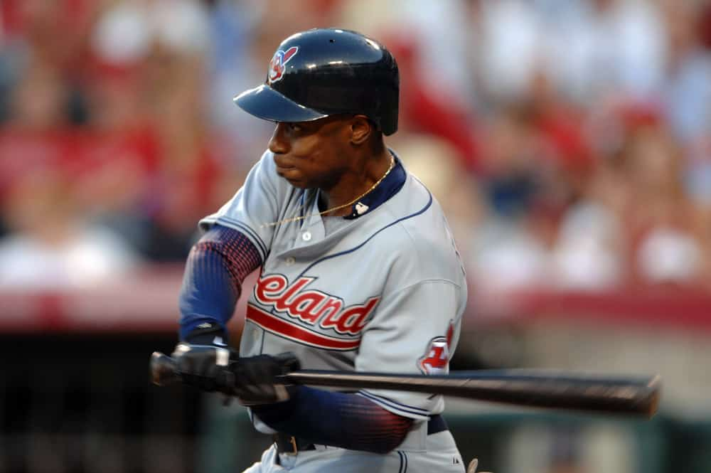 Cleveland Indians Kenny Lofton during a game against the Los Angeles Angels of Anaheim at Angels Stadium of Anaheim.